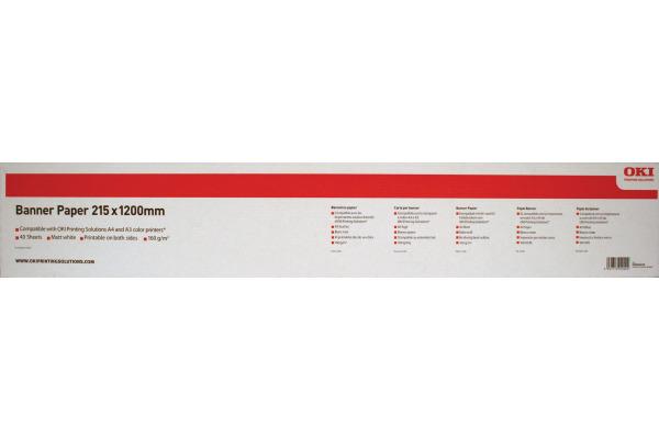 OKI Banner Papier 215x1200mm 09004450 C3500 160g 40 Blatt