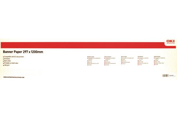 OKI Banner Papier 297x1200mm 09004581 C8600/8800 160g 40 Blatt
