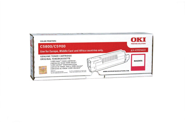 OKI Toner magenta 43324422 C5800/5900 5000 Seiten