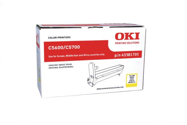 OKI Drum yellow 43381705 C5600/5700 20´000 Seiten