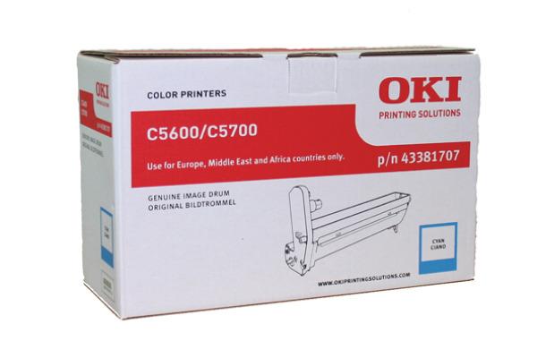 OKI Drum cyan 43381707 C5600/5700 20´000 Seiten