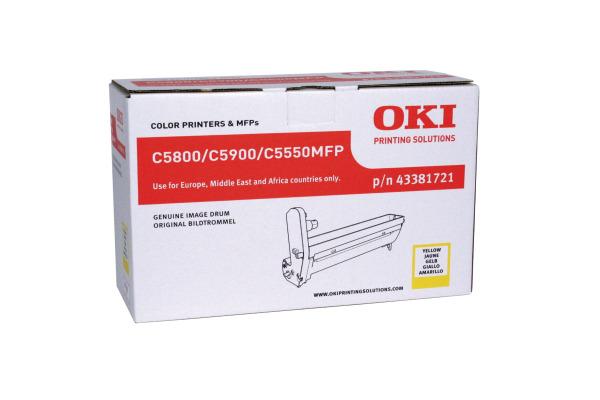 OKI Drum yellow 43381721 C5800/5900 20´000 Seiten