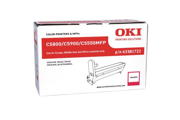 OKI Drum magenta 43381722 C5800/5900 20´000 Seiten