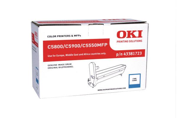 OKI Drum cyan 43381723 C5800/5900 20´000 Seiten