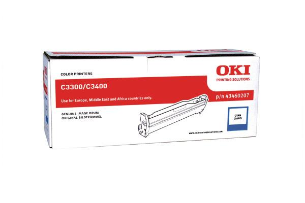 OKI Drum cyan 43460207 C3300/3400 15´000 Seiten