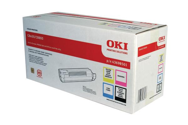 OKI Toner Rainbow Kit CMYK 43698501 C8600 6000 Seiten