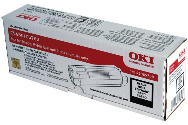 OKI Toner schwarz 43865708 C5650/5750 8000 Seiten