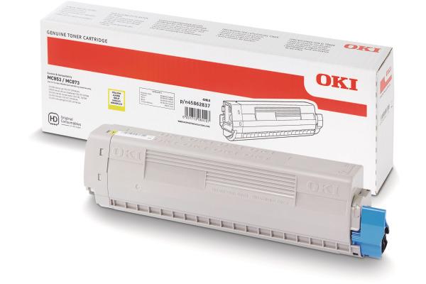 OKI Toner yellow 45862837 MC853/873 7300 Seiten