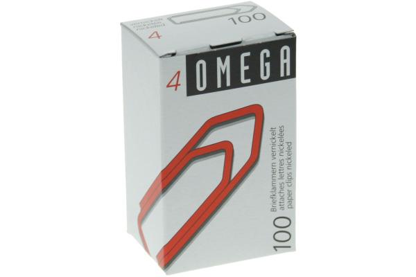 OMEGA Büroklammern Gr.4 4/100 vernickelt, 32mm...
