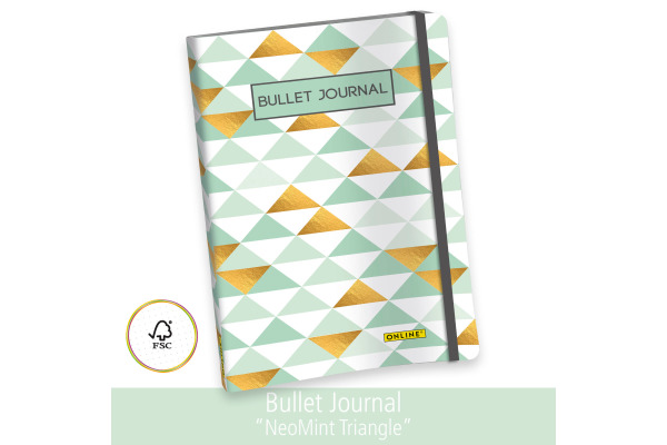 ONLINE Bullet Journal A5 02246 Neon Mint Triangle 96 Blatt