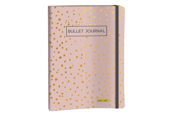 ONLINE Bullet Journal A5 02247 Sptlights Rose 96 Blatt