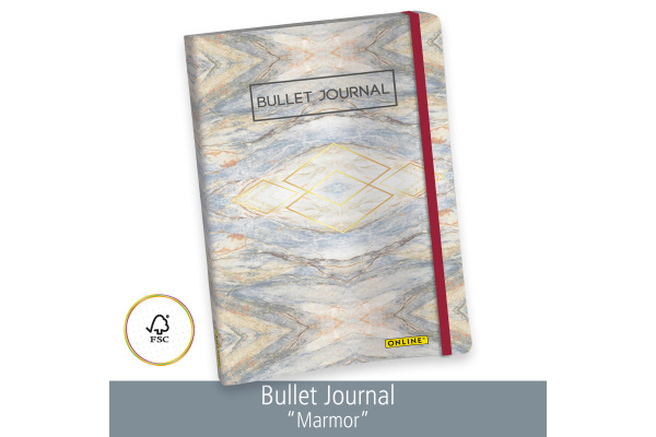 ONLINE Bullet Journal A5 02248 Marmor 96 Blatt