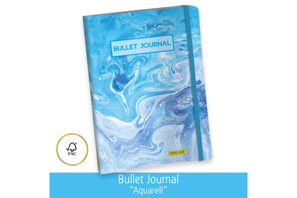 ONLINE Bullet Journal A5 02250 Aquarell 96 Blatt