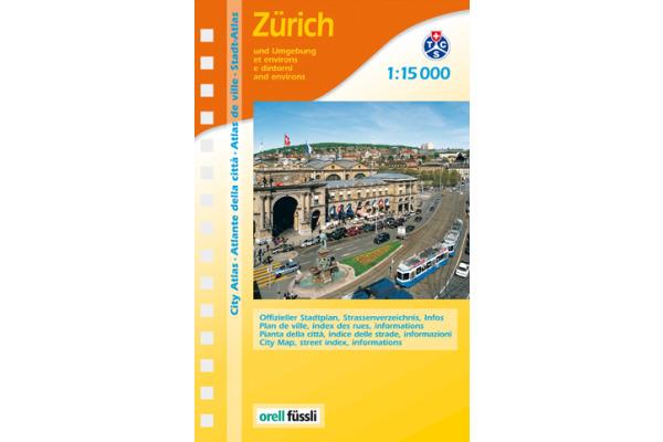 ORELL F. Stadtplan 905706932 Zürich Teilplan 1:15´000