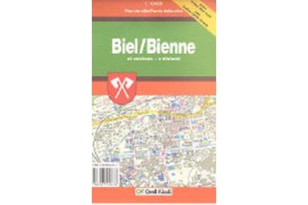 ORELL F. Stadtplan 11x17cm 905706956 Biel 1:10´000