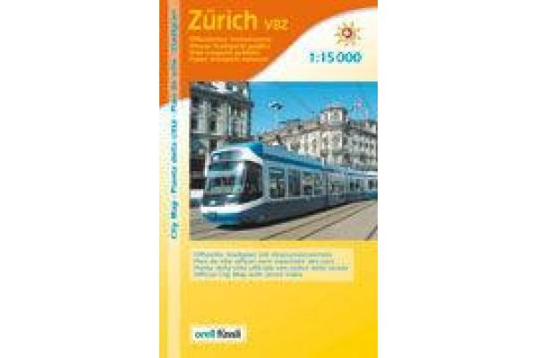 ORELL F. Stadtplan 905873733 Zürich mit VBZ 1:15´500