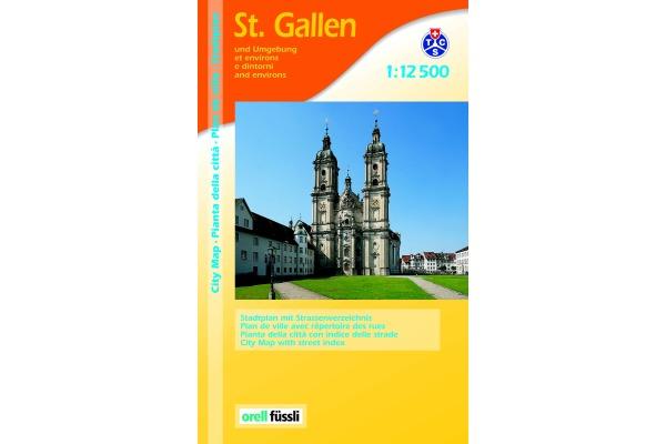 ORELL F. Stadtführer 907594896 St. Gallen 1:12´500