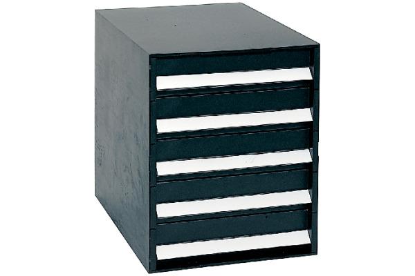 ORNALON Schubladenbox schwarz R121059999 5 Fächer