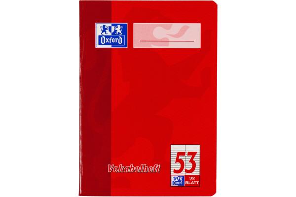 OXFORD Vokabelheft A4 100050336 liniert, 90g 32 Blatt