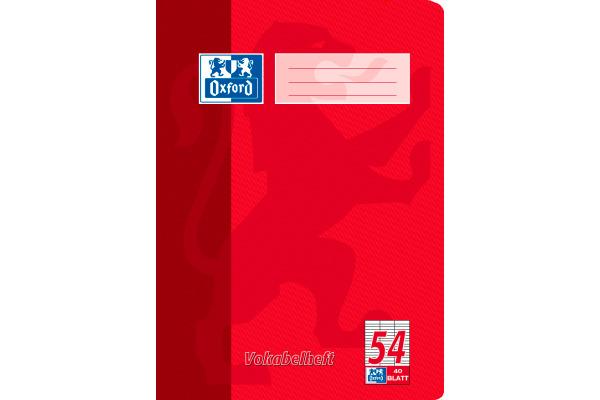 OXFORD Vokabelheft A4 100050337 liniert, 90g 40 Blatt