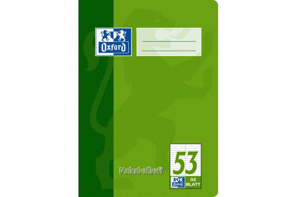 OXFORD Vokabelheft A5 100050383 liniert, 90g 32 Blatt