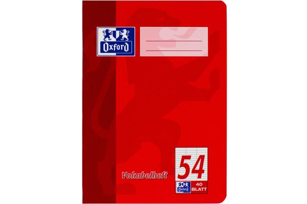 OXFORD Vokabelheft A5 100050390 liniert, 90g 40 Blatt