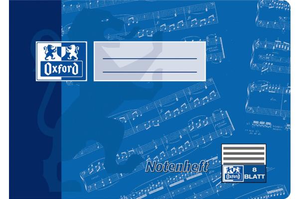 OXFORD Notenheft A5 100050394 liniert, 90g 8 Blatt
