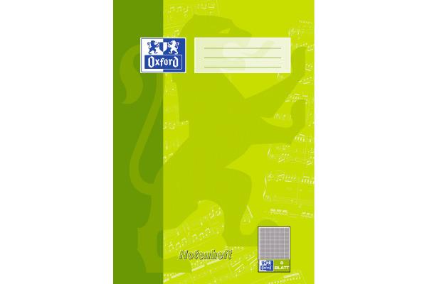 OXFORD Notenheft A4 100050399 liniert, 90g 8 Blatt