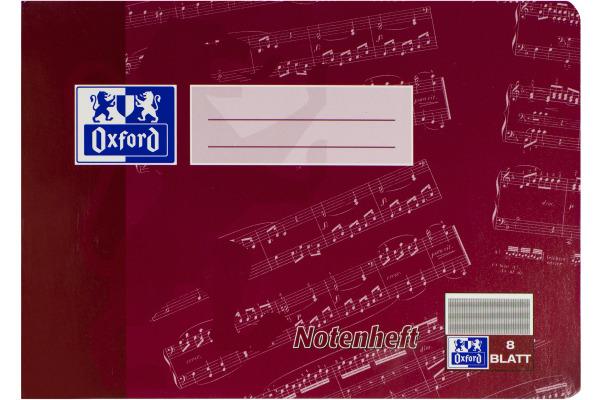 OXFORD Notenheft A5 100057956 liniert, 90g 8 Blatt
