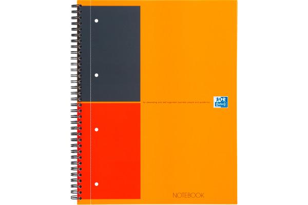 OXFORD Spiralbuch A4+ 100104036 liniert 6mm, 80g 80 Blatt