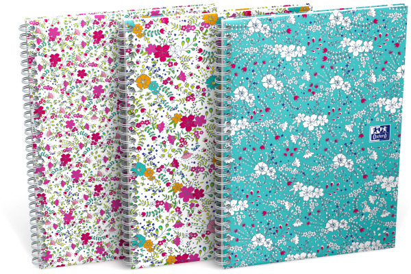 OXFORD Spiralbuch ForMe Floral B5 400094955 kariert 60 Blatt