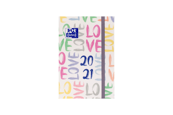 OXFORD Wochenkalender 20/21 12x18cm 400127619 12M Lettering 2 ass. 1W/2S