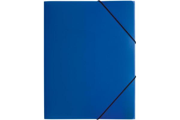 PAGNA Gummizugmappe A4 21613-07 blau PP 3 Einschlagklappen