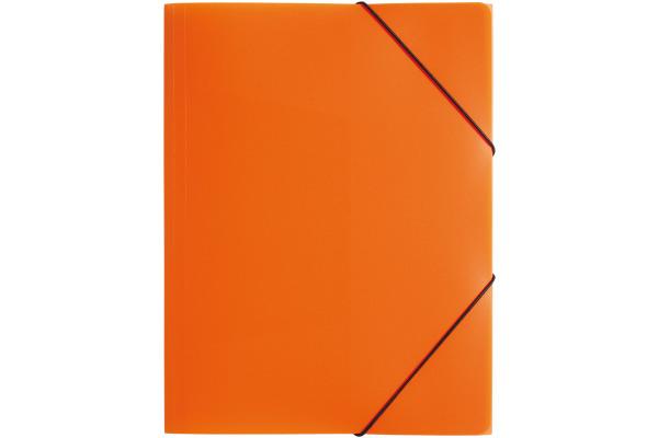 PAGNA Gummizugmappe Trend PP A4 21613-09 3 Klappen orange