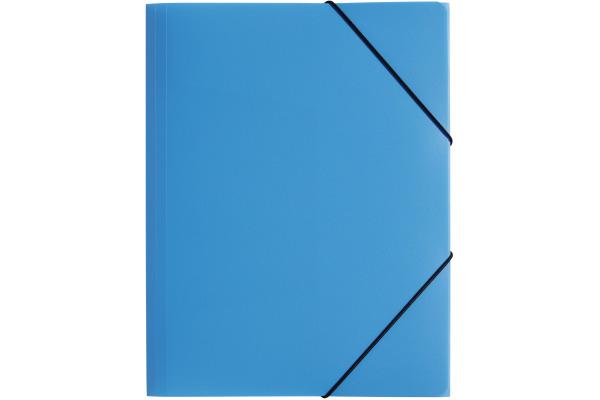 PAGNA Gummizugmappe Trend PP A4 21613-13 3 Klappen blau