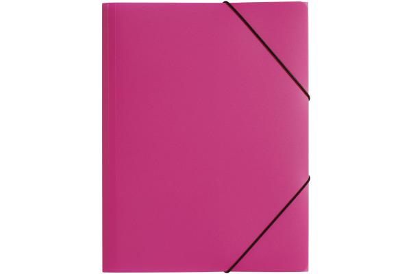 PAGNA Gummizugmappe Trend PP A4 21613-34 3 Klappen rosa