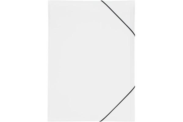 Pagna® Gummizugmappe A3 schwarz PP 3 Einschlagklappen