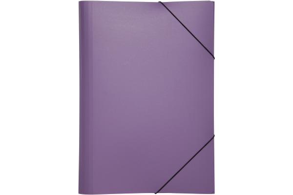 PAGNA Gummizugmappe Trend PP A3 21638-12 3 Klappen lila