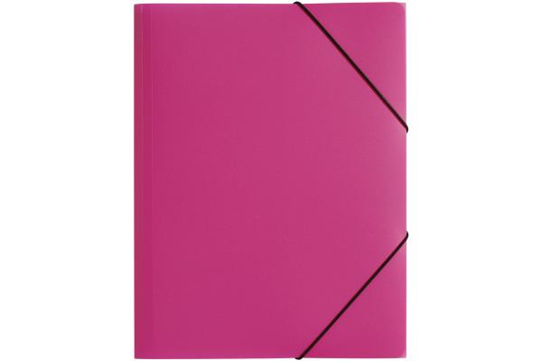 PAGNA Gummizugmappe Trend PP A3 21638-34 3 Klappen rosa