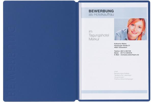 PAGNA Bewerbungsmappe Solo 5mm 22006-02 blau A4