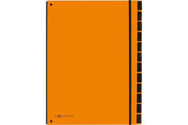 PAGNA Pultordner Trend A4 24129-09 orange 12 Fächer