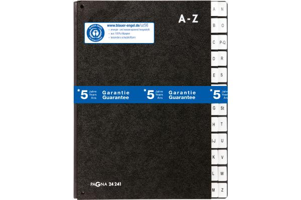 PAGNA Vorordner A4 24241/04 schwarz A-Z