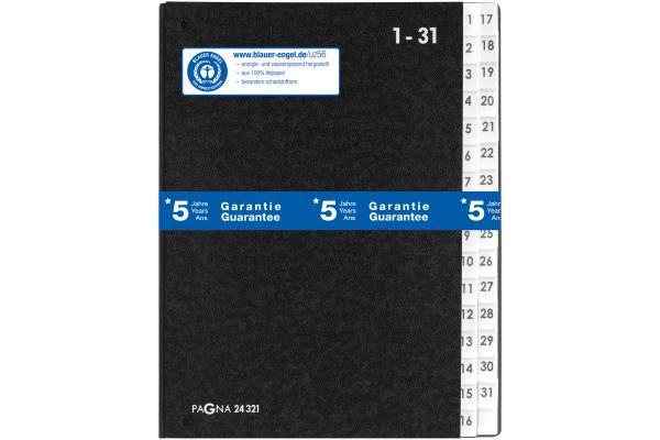 PAGNA Vorordner A4 24321/04 schwarz 1-31