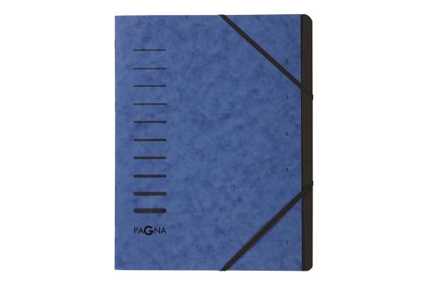 PAGNA Ordnungsmappe 40058-02 blau 7-teilig