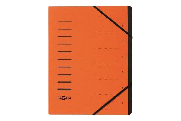 PAGNA Ordnungsmappe 40058-12 orange 7-teilig
