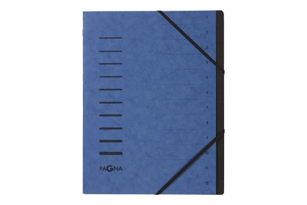 PAGNA Ordnungsmappe 40059-02 blau 12-teilig