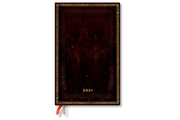 PAPERBLAN Agenda 21 Schw. Marokkoleder DD6732-0 4 T/S,Maxi 135x210mm