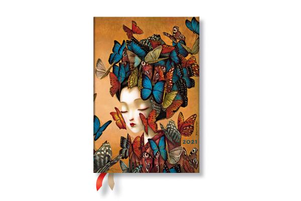PAPERBLAN Agenda Madame Butterfly 21 FD6767-2 95×140mm, de, Flexi, 12M