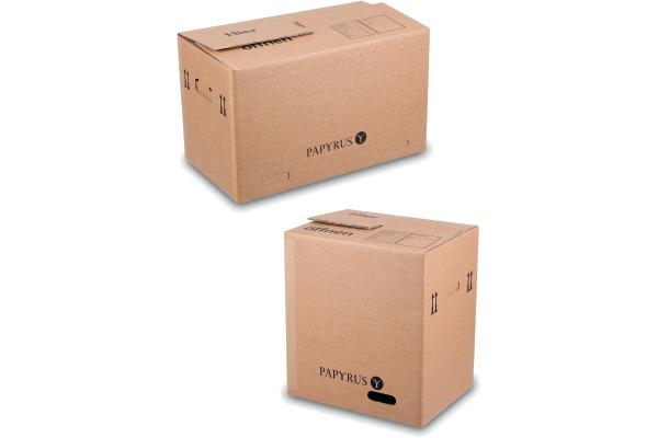 PAPYRUS Wellkarton 50x35x37cm 2008533 braun 10 Stück