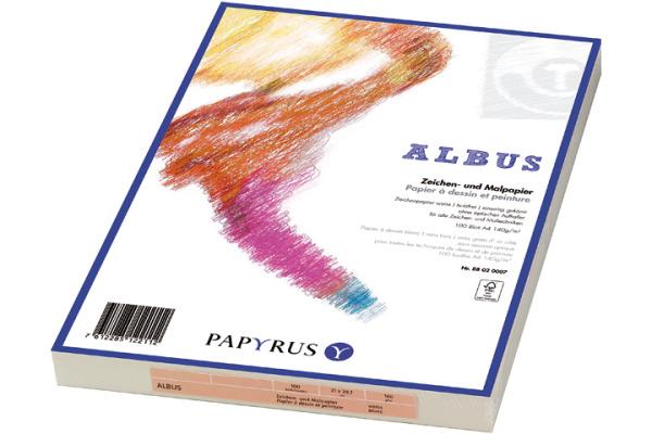 PAPYRUS Zeichenpapier A4 88020007 140g, weiss 100 Blatt